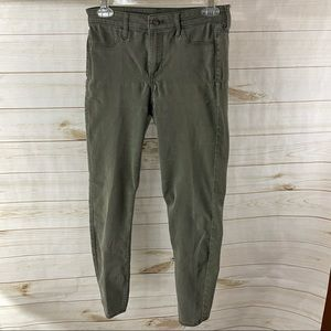 H&M Skinny Ankle Green Jeans